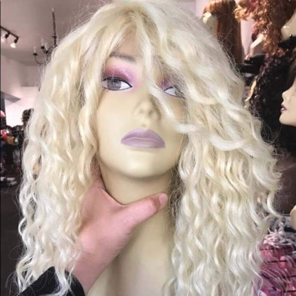 Accessories Wig Swisslace Lacefront Platinum Blonde Curly Wig Poshmark